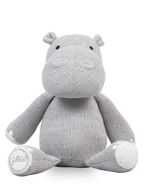 Knuffel Hippo Jollein Soft Knit Light Grey