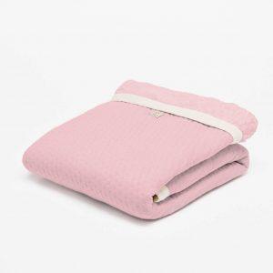 wiegdeken teddy voering fair and cute light pink