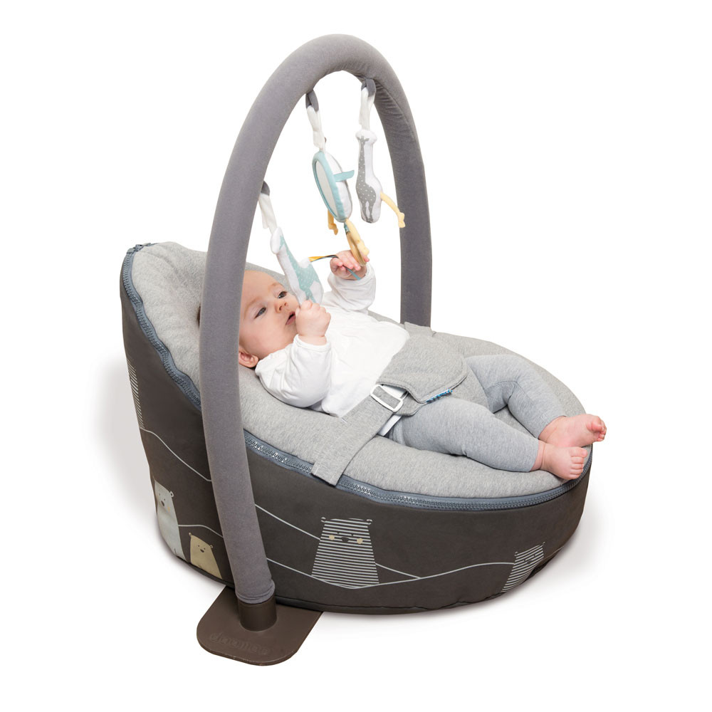Doomoo Zitzak Vulling.Doomoo Seat Bear Grey Quper Babywinkel