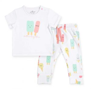 jollein t-shirt broekje happy icecream (1)