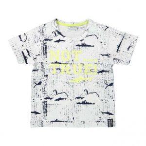 Dirkje baby t-shirt wit + navy
