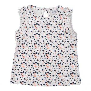 Dirkje baby T-shirt wit met zwart en roze print