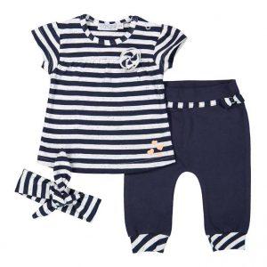 dirkje baby set 3 delig t-shirt broekje haarband navy