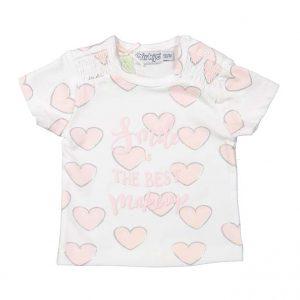 Dirkje baby t-shirt roze hartjes