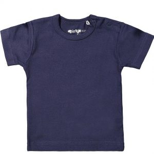 Dirkje baby basic T-shirt navy blauw
