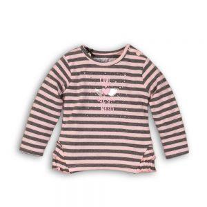 Dirkje T-shirt grijs+roze