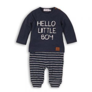 Dirkje tweedelige navy set hello little boy