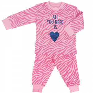 Pyjama roze tijgerprint