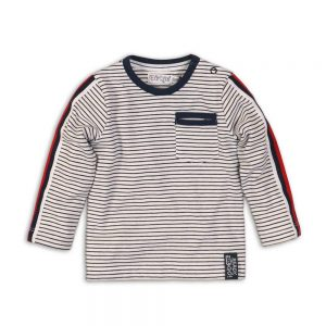 Dirkje shirt white navy stripe