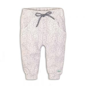 Dirkje joggingbroek wit + blue dots